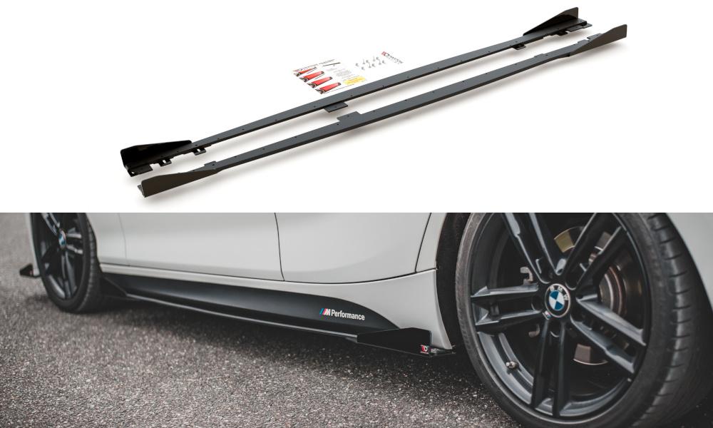 Dokładki progów Racing Durability V.2 + Flaps BMW 1 F20 M-Pack Facelift / M140i - GRUBYGARAGE - Sklep Tuningowy